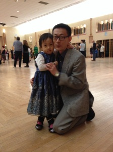 Zhen Wang (China) and his favorite dance partner
