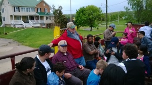 Patriarch of the Orchard takes Fulbright Scholars for a ride