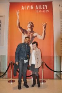 Farida Ryskulueva from Kyrgyzstan with dancer Slim Mello.
