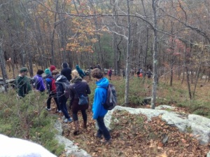 Walking the trails at the Audobon Sanctuary