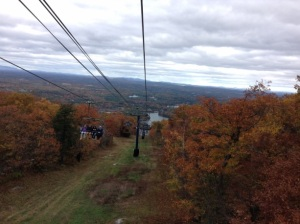 View of New Hampshire mountains from the Skyride.