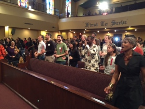 Fulbright Scholars take part in the service with FAME community.