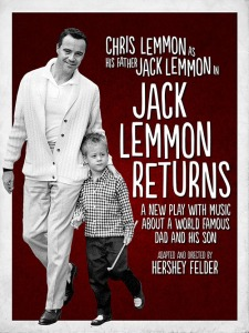 "Poster for the play, ""Jack Lemmon Returns."""