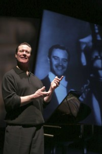 """Fulbrighters enjoyed seeing Christopher Lemmon portray his father in """"Jack Lemmon Returns."""""""