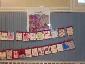 Fulbright-made valentines for the elderly.
