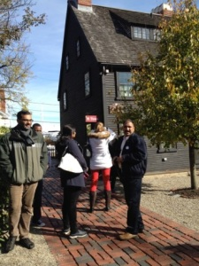 Visiting Scholars at the House of the Seven Gables.