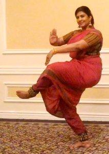 Swarnamalya Ganesh, India, performs the Dance of Shiva.