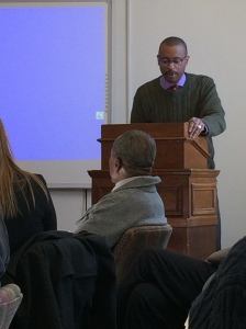 Dr. E. Ethelbert Miller addresses Scholars on African-American poetry.