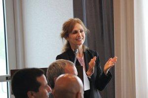 Dr. Maria De Los Angeles Crummett, excutive director of CIES welcomes Scholars.