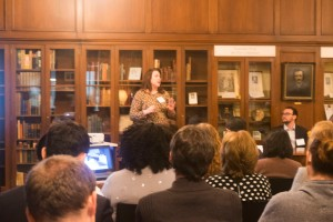 Fulbright Scholars attend a talk on International Public Health at the Enoch Pratt Free Librar