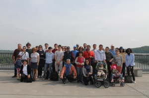 The Fulbright group on Walkway Over The Hudson