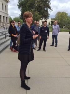 Laura Trombley speaking to Scholars - LA